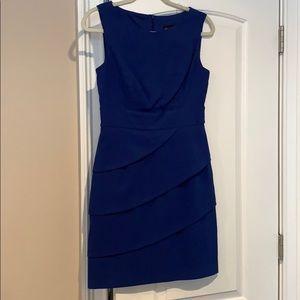 Blue workwear dress